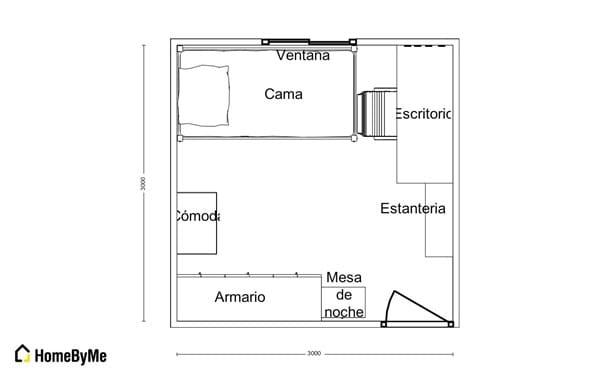 C mo tener en mi habitaci n 3x3 mi espacio de trabajo y for Cuarto 3x3 metros