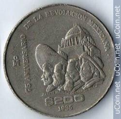 200 pesos 1985 75 aniversario