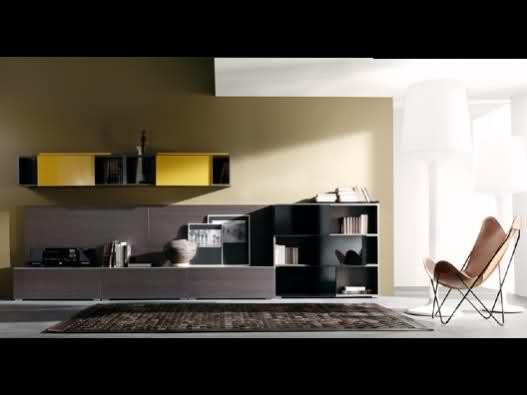 Paredes y muebles del sal n decoraci n for Pintar paredes con muebles oscuros