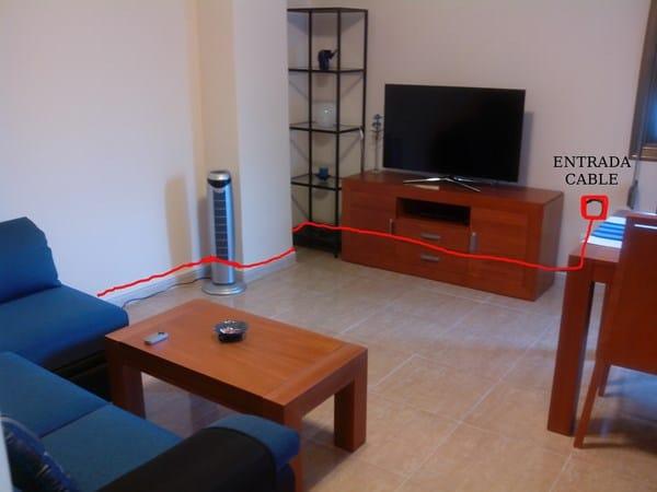 Ocultar cables internet en columna alba iler a - Instalacion de pladur en paredes ...