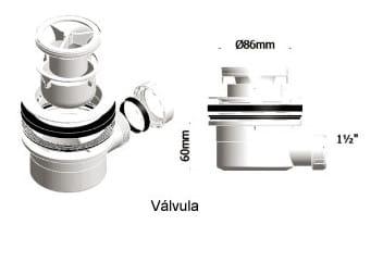 Desag e plato de ducha fontaner a - Como instalar un plato de ducha acrilico ...
