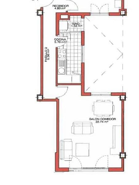 las medidas del pasillo son normales arquitectura