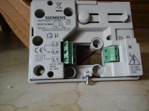 Cambiar termostato junkers t21 por siemens rv24rf - Cambiar termostato calefaccion ...